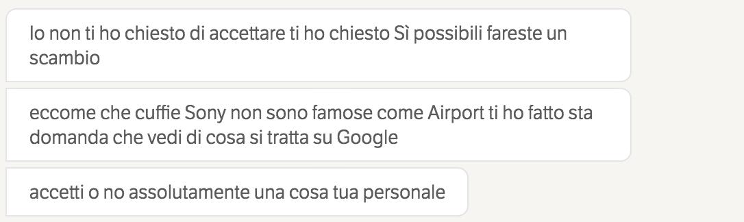 Italiano in perdita