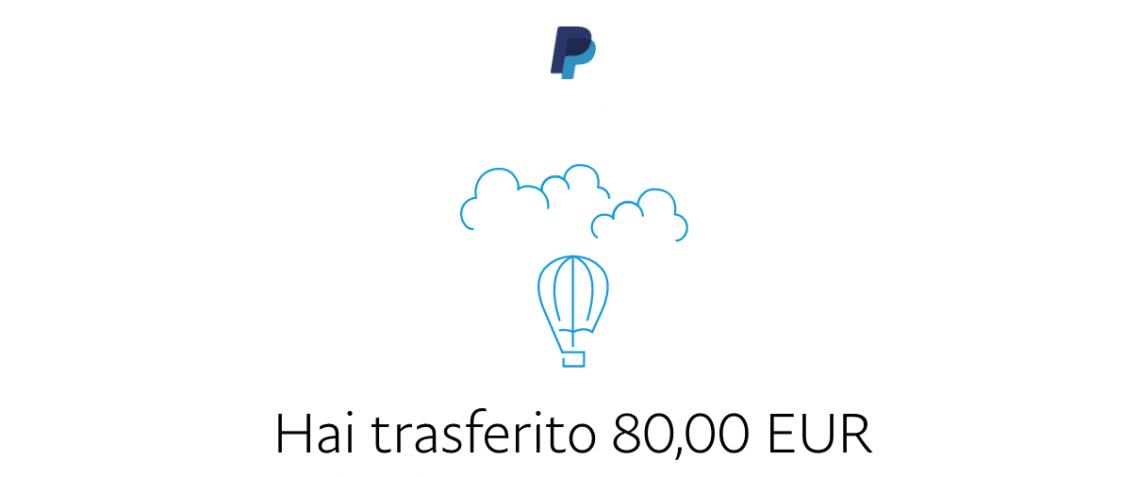 Trasferiamo 80€ da PayPal