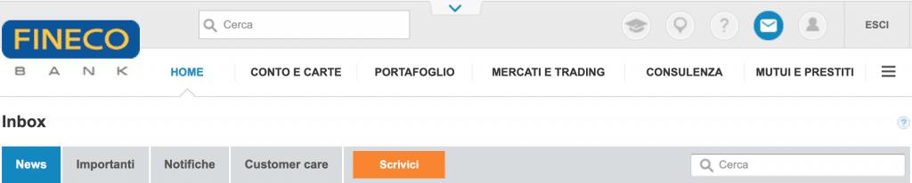 Potete contattare il servizio Fineco clienti da questa sezione
