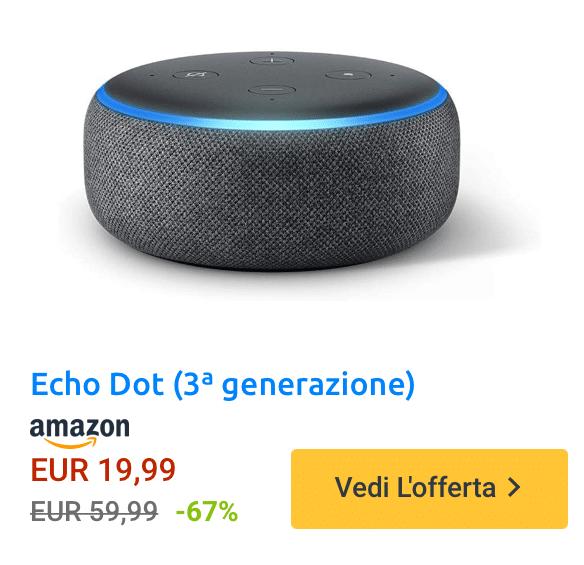 Amazon Echo Dot in sconto durante il Prime Day