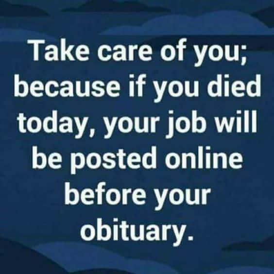 Se muori, il tuo posto di lavoro sarà online prima del tuo necrologio