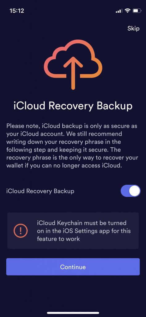 Attivare o no il backup su iCloud di BRD