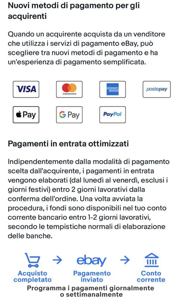 Pagamenti Ottimizzati di eBay