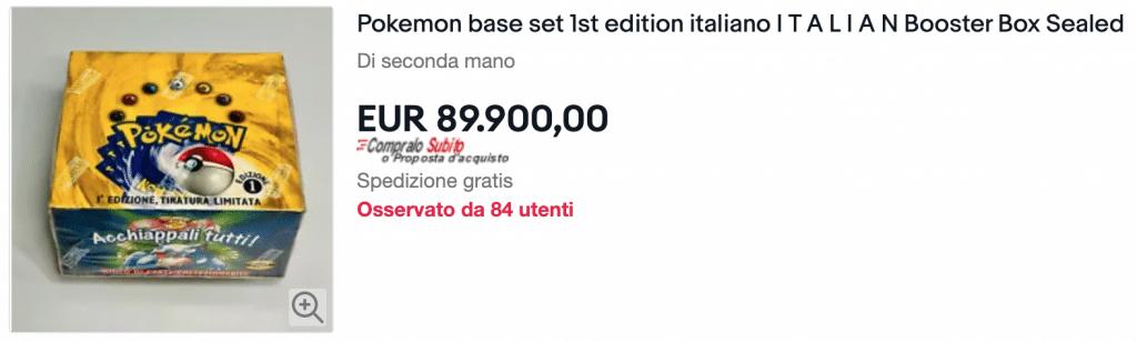 Box Pokemon a 89.900€