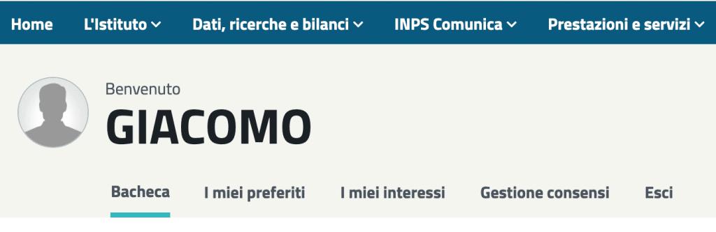 Home Page MyINPS