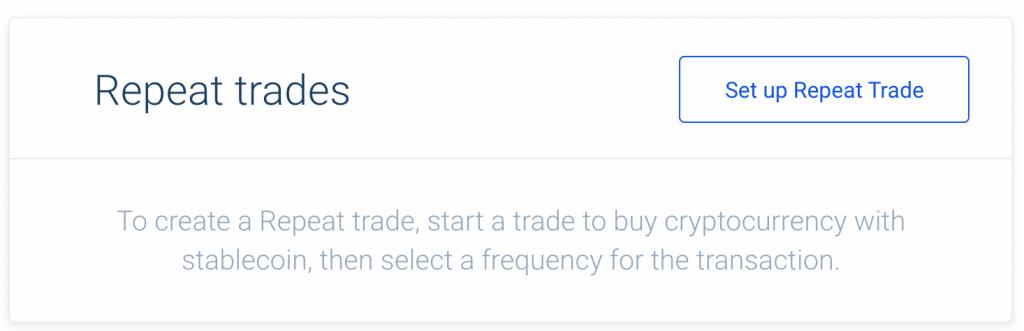 Sezione per impostare un PAC con Bitcoin