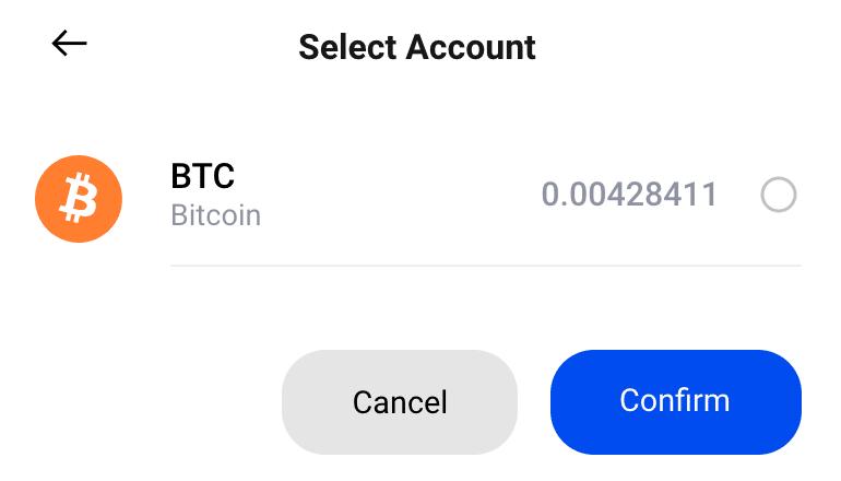 Posso vendere solo Bitcoin perché posseggo solo quelli