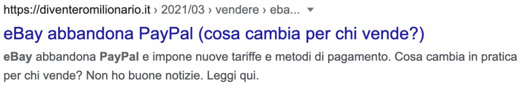 Come appare su Google un articolo a 5 stelle