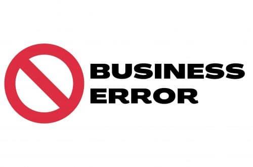 Business Error