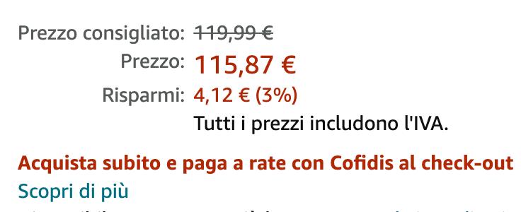Compra su Amazon a rate con Cofidis