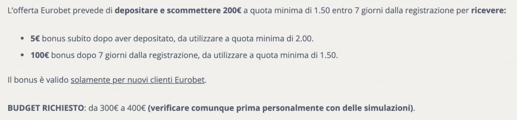 Budget di 400€ per fare Matched Betting al meglio su questo sito