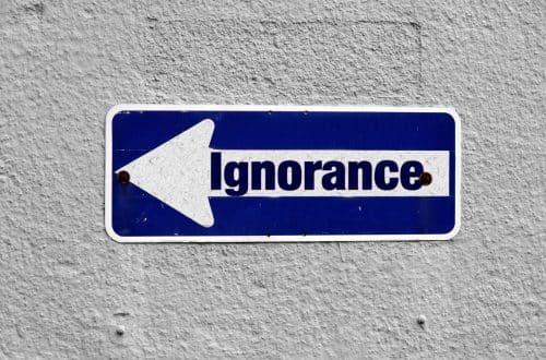Il costo dell'ignoranza