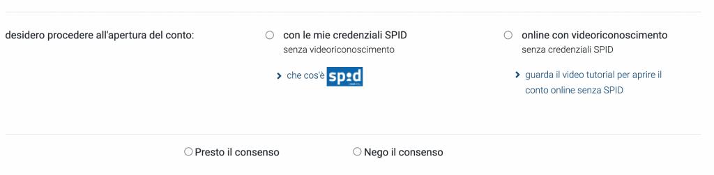 Io selezionerò il riconoscimento con SPID